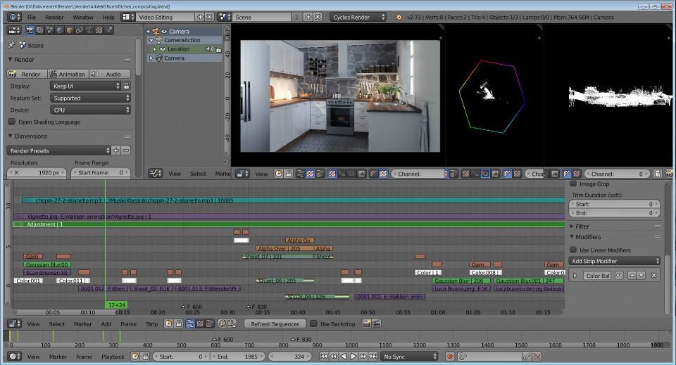 Videoediting setup